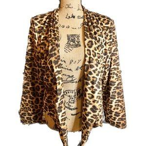 NWOT- Leopard Print Open Cardigan/Blazer